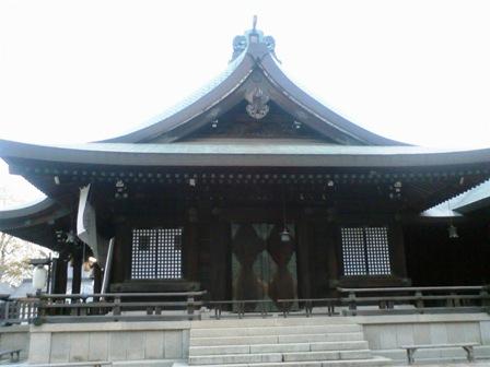 吉備津彦神社 本殿横