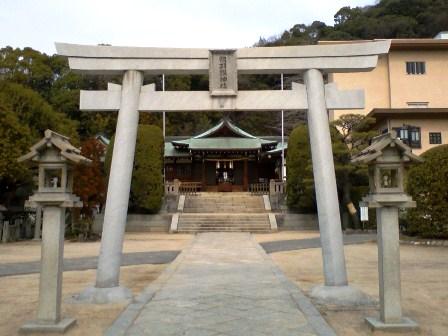 鶴羽根神社 鳥居