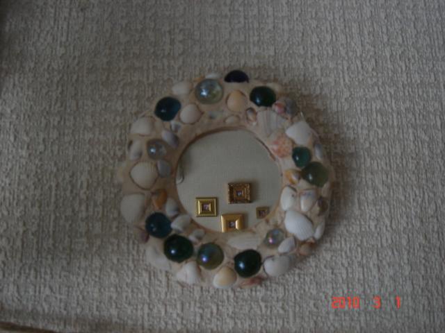 ビー玉と粘土のミラー