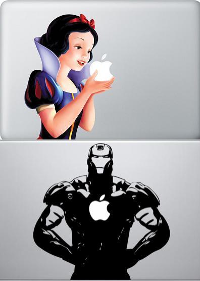 macbook 白雪姫シール アイアンマン