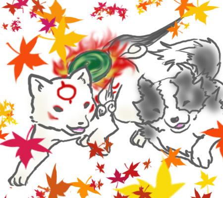 チビテラスと愛犬