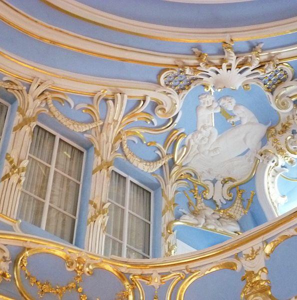 Blue Hall, Sondershausen Palace, 1760th ウェッジウッドとの相関