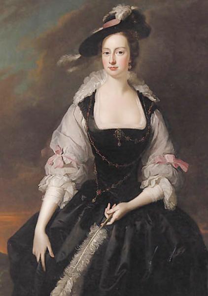 Portrait of Lady Frances Courtenay by Thomas Hudson, 1741 ルーベンスの妻