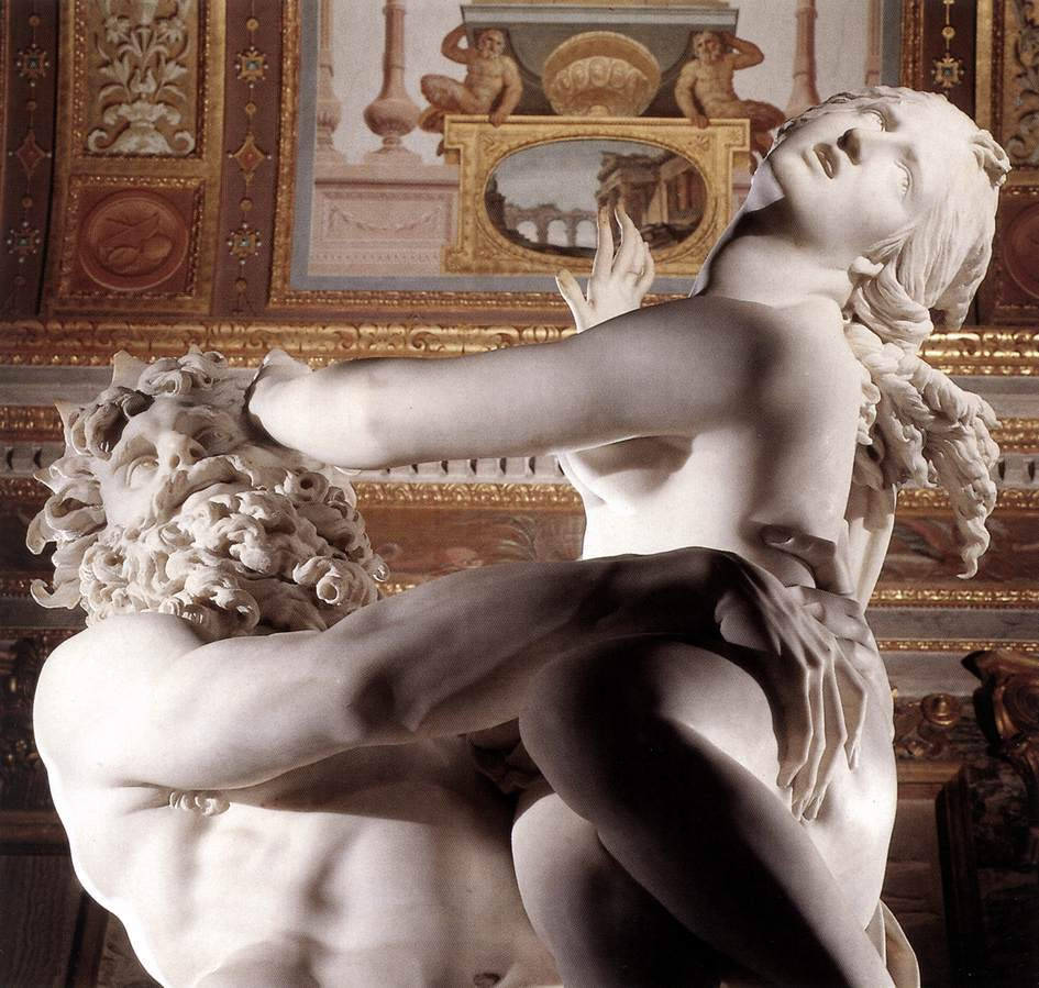 The Rape of Proserpina (detail) 1621-22 Marble Galleria Borghese Rome