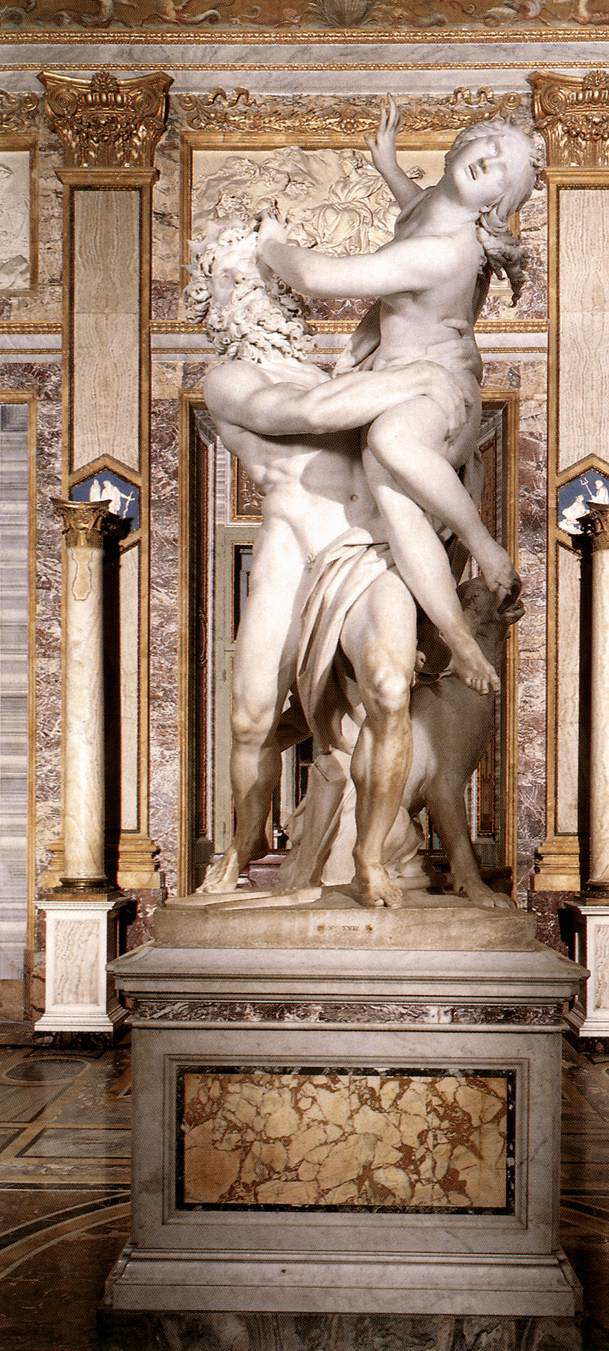 The Rape of Proserpina 1621-22 Marble height 295 cm Galleria Borghese Rome