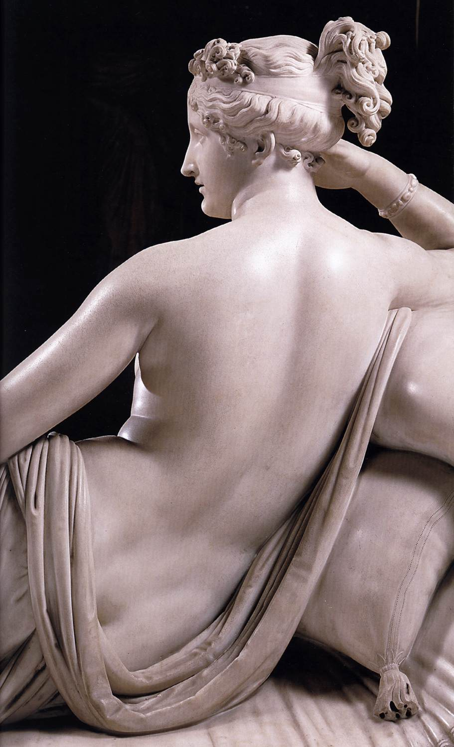 Paolina Borghese as Venus Victrix (detail) 1804-08 White marble Galleria Borghese, Rome