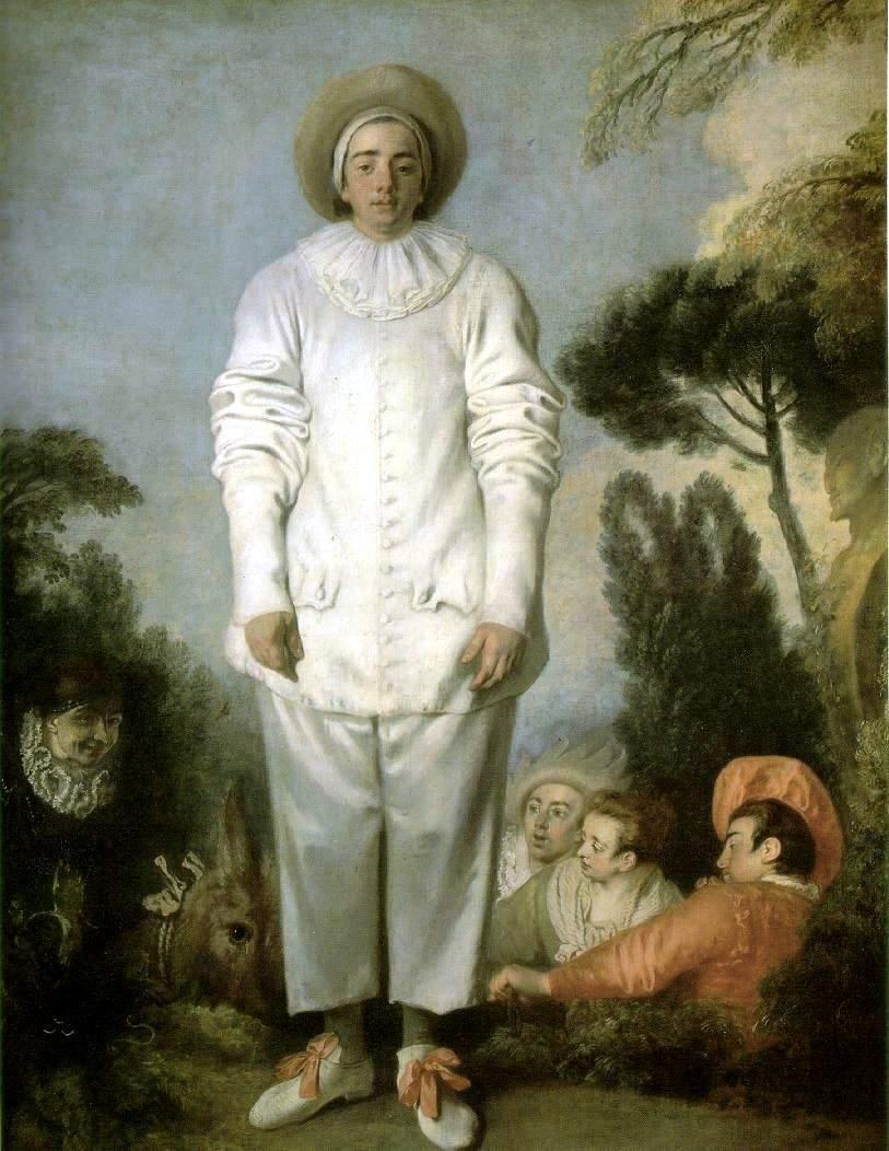 アントワーヌ・ヴァトー ヴァトー 「ピエロ(ジル)」 1718-19