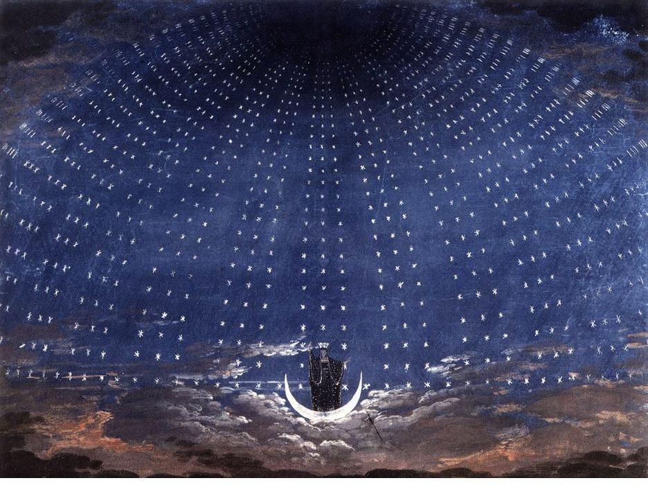 カール・F・シンケル  舞台画「夜の女王」(1816) のコピー