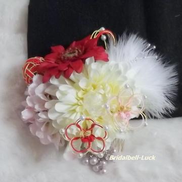 ガーベラ・ダリアの髪飾り