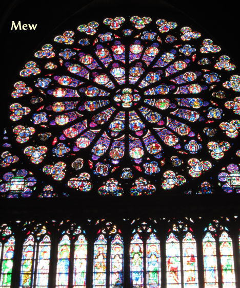 La rosace sud de Notre-Dame de Paris