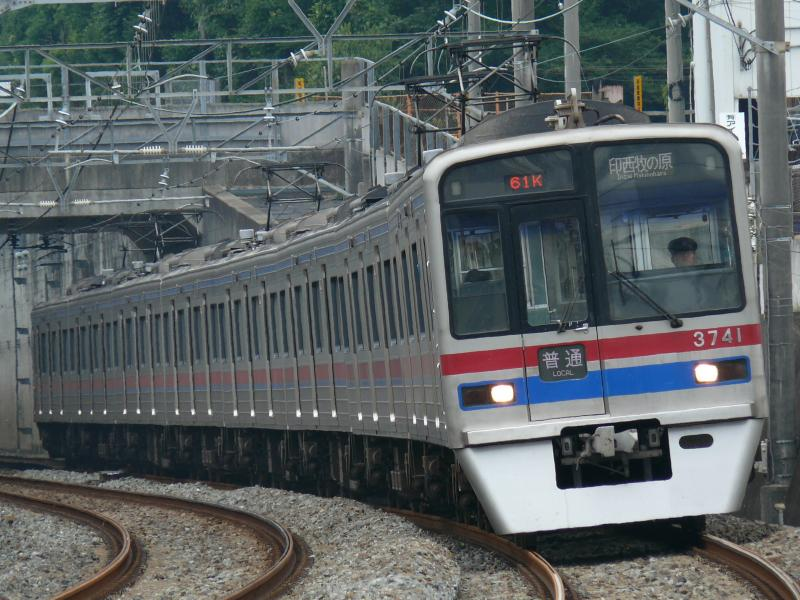 京成3700系 3748編成(北総線 松飛台駅にて)