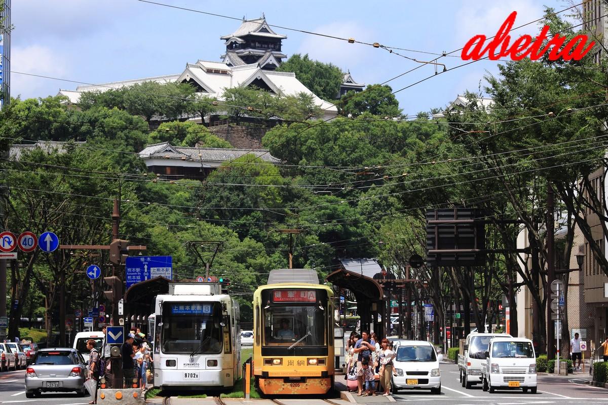 熊本城下の風景