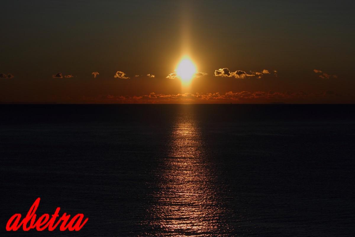 夜明~東海道線の車窓から~