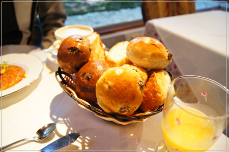 美味しい朝食のパン