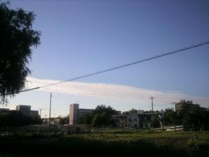 一直線の雲が・・・!
