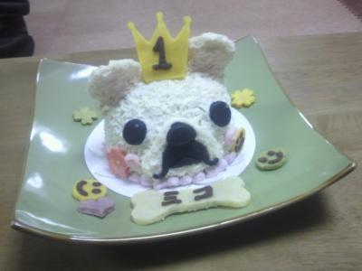 ミコの似顔ケーキです