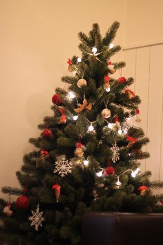 灯りをともしたツリーも良いよね!