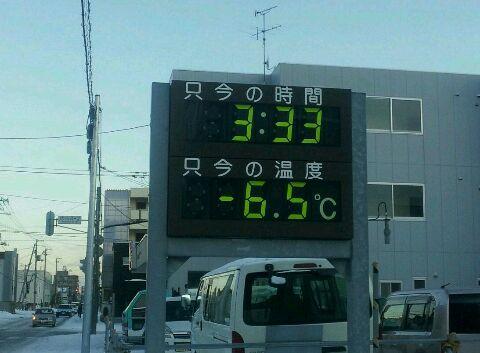 寒い訳だ。
