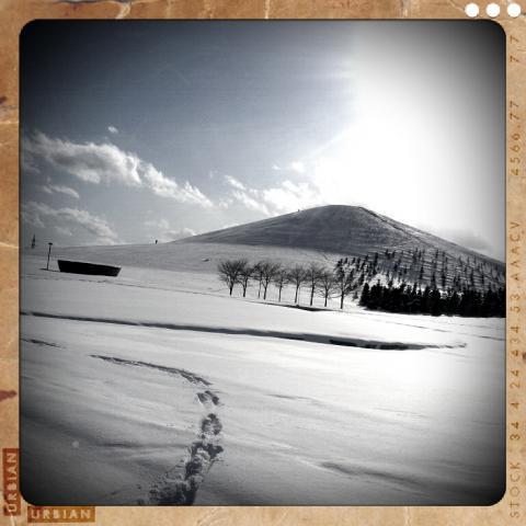 レトロカメラでモエレ山