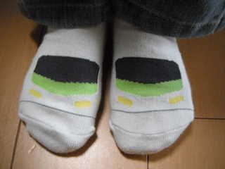 山手線靴下