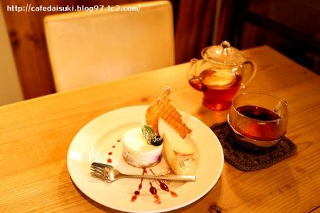 chimney cafe◇ベイクドレアチーズ&アッサムとりんごのホットティー