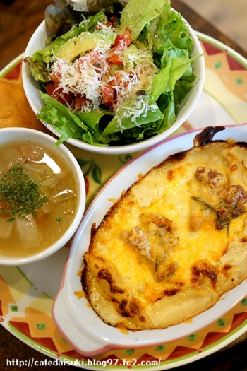 minoi ts Cafe◇ハーブチキンとポルチーニ茸のクリームグラタン