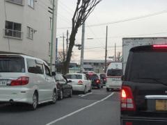 スタンド渋滞