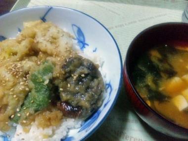 09野菜天丼