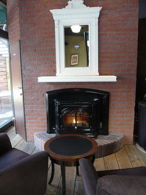 スタバ 暖炉
