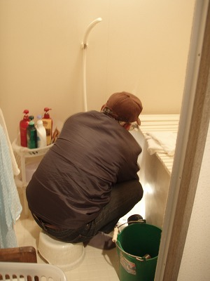 2011.03.10お風呂の修理