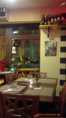 ピザッテリアで夕食