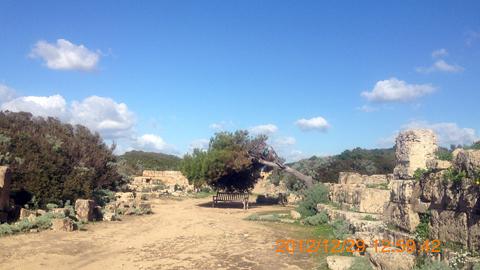 西神殿群C神殿西裏の道を北へinセリヌンテ