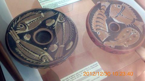 アグリジェント考古学博物館03魚プレート