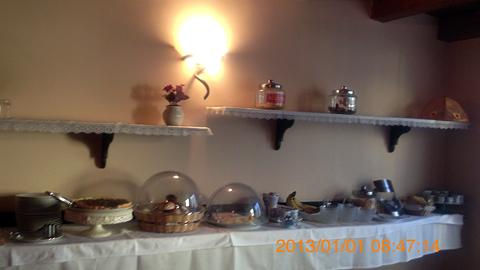 ホテル元旦の朝食inシラクーサ