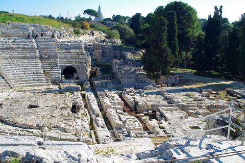 ネアポリ考古学公園劇場跡inシラクーサ