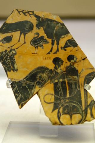 考古学博物館05レトとアルテミス陶器破片inシラクーサ