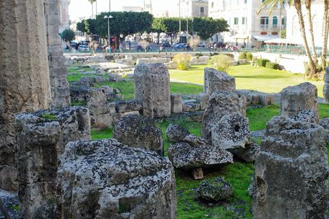 オルティージャ島アポロン神殿inシラクーサ