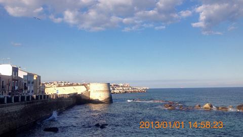オルティージャ島東海岸に出ましたinシラクーサ