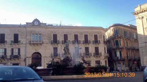 オルティージャ島アルキメデス広場inシラクーサ