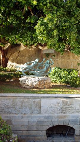 オルティージャ島アレトゥーザの泉inシラクーサ