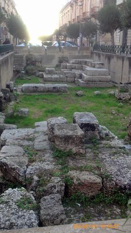 オルティージャ島ギリシア時代の港湾施設跡inシラクーサ