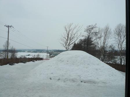 ドックランに雪山