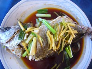 Cooking_ChineseSteamfishSheephead
