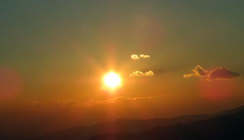 元旦の夕日