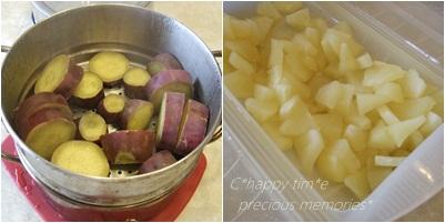 サツマイモとリンゴ