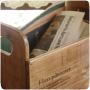 ナチュラルな木製ラックできれいに収納