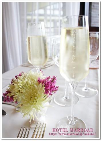 シャンパンでカンパイ