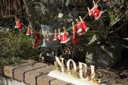 クリスマスお庭