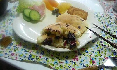 ブルーベリーパンケーキ1