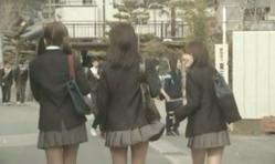 登校してきた浅見紗英のスカートが・・